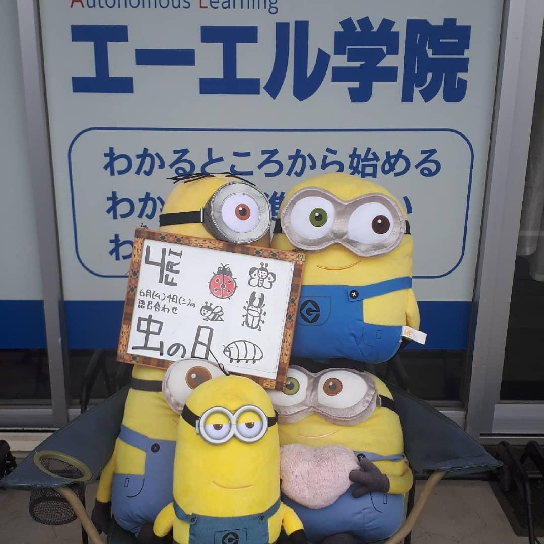 虫の日(2021/06/04)6月(ム)4日(シ)の語呂合わせから通常授業、オンライン授業実施中️